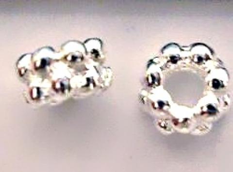 925-ös   ezüst köztes / gyöngy / díszitőelem EKÖ 05   , Gyöngy, ékszerkellék, Fém köztesek, 925-ös valódi  ezüst (bevizsgált) köztes / gyöngy / díszítőelem .  2x4mm   2 db /csomag   F..., Alkotók boltja