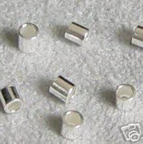 EKÖ 37   925-ös    ezüst köztes / gyöngy / díszitőelem , Gyöngy, ékszerkellék, Fém köztesek, 925-ös valódi  ezüst (bevizsgált) köztes / gyöngy / díszitőelem .  1,5 x 1,5 mm-es   10db / ..., Alkotók boltja