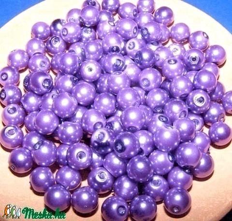 Viaszgyöngy 4mm(középlila), Gyöngy, ékszerkellék, Üveggyöngy, Viaszgyöngy 4mm(középlila) A csomag tartalma kb.230db viaszgyöngy vagy más néven üveg tekla., Alkotók boltja