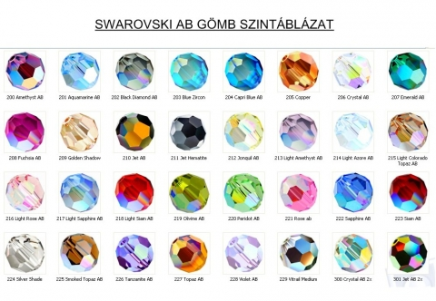 swarovski gmb 2mm AB-s tbb sznben 4db GYSWG 2AB, Gyngy, kszerkellk, Swarovski kristlyok, SWAROVSKI KRISTLY AB BEVONATOS GMB TBB SZNBEN !