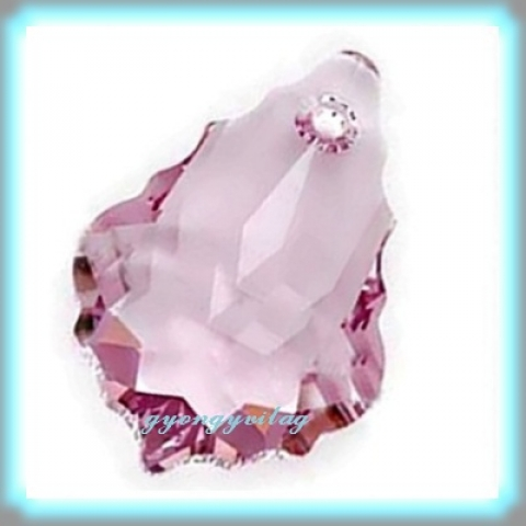 1 swarovski kristály barokk medál 22mm-es light amethyst GYSWM BA16, Gyöngy, ékszerkellék, Swarovski kristályok, SWAROVSKI KRISTÁLY BAROKK ,  ! Szín :  light amethyst  Méret:22mm  Az ár egy darabra vonatkozik!..., Alkotók boltja