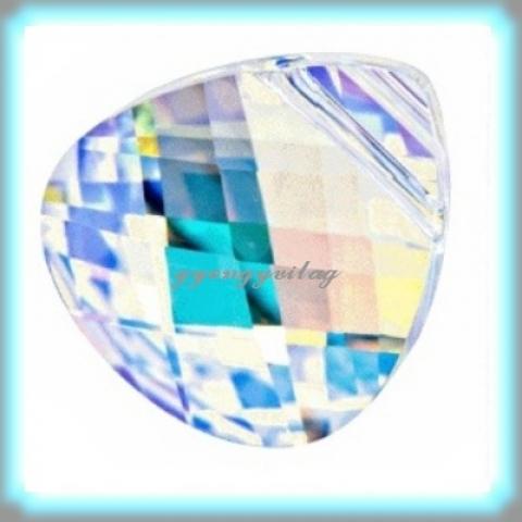 1Swarovski  11mm-es briolett szív  crystal ab GYSWM BSZ11, Gyöngy, ékszerkellék, Swarovski kristályok, Eredeti swarovski kristály briolett szív medál .  Méret: 11 mm Szín:   crystal ab  Az ár egy d..., Alkotók boltja