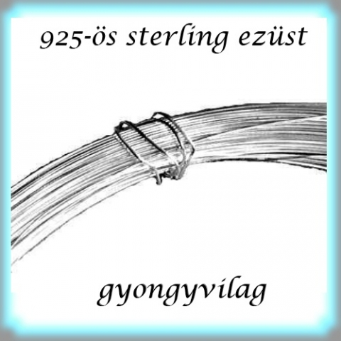 925-s ezst huzal EH 0,4mm-es 30cm, Gyngy, kszerkellk, Egyb alkatrsz, 925-s valdi ezst (bevizsglt) 0,4mm vastag ezst huzal.