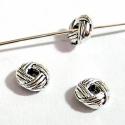 EKÖ 24    925-ös  antikolt (bali)  ezüst köztes / gyöngy / díszitőelem , Gyöngy, ékszerkellék, Fém köztesek, 925-ös valódi antikolt (bali) ezüst (bevizsgált) köztes / gyöngy / díszitőelem .      HA tö..., Alkotók boltja