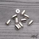 Végzáró kupak - ezüst, 12x8mm (10db), Gyöngy, ékszerkellék, Egyéb alkatrész, Ékszerkészítés, Ezüst színű végzáró kupak.  Mérete: 12 x 8 mm Belső átmérője: 7 mm  Az ár 10 db kupakra vonatkozik., Alkotók boltja