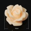 - 5 db gyanta rózsa cabochon 10 mm, barack, Gyöngy, ékszerkellék, Cabochon, Befoglalható, ragasztható gyanta rózsa cabochon.  Méret: 10 mm  Egy csomag 5 db virágot tartalmaz.  ..., Alkotók boltja