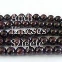 -Gránát ásvány 8  mm  20 db/cs. természetes, Gyöngy, ékszerkellék, Féldrágakő, Alkotók boltja