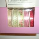 Dekorációs textilszalag 5x2m, Dekorációs kellékek, Vegyes alapanyag, Varrás, Mindenmás, VÉGKIÁRUSÍTÁS !!!  Színben egymással harmonizáló dekorációs textilszalagok. Sokoldalúan felhasználh..., Alkotók boltja