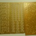Esküvői konturmatrica készlet arany, Dekorációs kellékek, Papír, VÉGKIÁRUSÍTÁS !!!  Esküvői meghívók díszítéséhez alkalmas konturmatrica készlet arany színben.  Alko..., Alkotók boltja