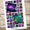 Digitális kép ékszerkészítéshez 25x25mm négyzet, galaxis, Gyöngy, ékszerkellék, Üveglencse, Ékszerkészítés, Grafika, fotó, ------------ AKCIÓ ----------- 3+1 akció Vásárolj 3 kollázst és a negyediket ajándékba kapod. (Csak..., Alkotók boltja