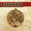 Antik bronz fa medál, charm, Gyöngy, ékszerkellék, Gyönyörű, antik bronz fa charm. Méret: 37 x 42 mm.  Akár egy nyakláncra akár egy bőrszálra fűzve már..., Alkotók boltja