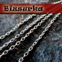 AKCIÓ! Nikkel ezüst színű  keresztszemű lánc (2x3mm), Gyöngy, ékszerkellék, Egyéb alkatrész, Nikkel ezüst színű keresztszemű lánc,  Láncszemek mérete: 2 x 3 mm  Az ár 1 m hosszú láncra vonatkoz..., Alkotók boltja