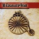 Antik bronz bicikli medál, charm, Gyöngy, ékszerkellék, Gyönyörű, antik bronz bicikli medál. méret: 50 x 46 mm  Akár egy nyakláncra akár egy bőrszálra fűzve..., Alkotók boltja