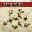 10 db antik bronz szivecske köztes, fülbevaló alap, Gyöngy, ékszerkellék, Fém köztesek, Antik bronz szivecske köztes, fülbevaló alap. Használható karkötő, lánc vagy fülbevaló készítéséhez ..., Alkotók boltja