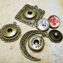 Patentos Noosa medál bronz színű, 1.tipus, Gyöngy, ékszerkellék, Alkotók boltja
