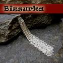 Nikkel ezüst szín?, nagy láncbojt (8 cm), Gyöngy, ékszerkellék, Nikkel ezüst szín?,nagy bojt 2x3 mm-s láncból készült.  Vastagság: 8mm, hosszúsága: 8 cm.  Az 1db-ra..., Alkotók boltja