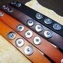 1db Noosa bőrkarkötő 1.típus / 4 színben, Gyöngy, ékszerkellék, Cabochon, Alkotók boltja