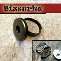 18-as Noosa patent gyűrű / 2 színben, Gyöngy, ékszerkellék, Cabochon, Noosa gyűrű, állítható  Választható: - antik bronz  nikkel ezüst színű  Egy mozdulattal be..., Alkotók boltja