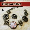 Noosa bronz fémkarkötő 3 patentos / 3 típus, Gyöngy, ékszerkellék, Egyéb alkatrész, Alkotók boltja