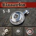 18-as Noosa medál ezüst színű, 5-7 Típus, Gyöngy, ékszerkellék, Noosa medál,ezüst színű.  Választható : 5 - strasszos medál (25x37mm) 6 - szív (35x45mm) 7 -..., Alkotók boltja