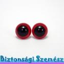 12 mm-es biztonsági szem piros 2 db (1 pár), Gomb, Bábkészítés, mackóvarrás, Kötés, horgolás, Varrás, Szépen csillogó felületű, szemet gyönyörködtető biztonsági szemek mosás- és gyerekbiztos hátsó réss..., Alkotók boltja