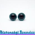 12 mm-es biztonsági szem türkiz 2 db (1 pár), Gomb, Szépen csillogó felületű, szemet gyönyörködtető biztonsági szemek mosás- és gyerekbiztos hátsó réssz..., Alkotók boltja
