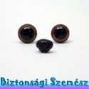 Kutya készlet - 12 mm-es biztonsági szem + 10 mm-es biztonsági kutyaorr 2+1 db, Gomb, Bábkészítés, mackóvarrás, Kötés, horgolás, Varrás, Szépen csillogó felületű, szemet gyönyörködtető biztonsági szemek és hozzá passzoló orr mosás- és g..., Alkotók boltja