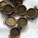 Fémfoglalat összekötő - bronz színű, Díszíthető tárgyak, Gyöngy, ékszerkellék, Ékszerkészítés, Fém köztesek, Szerelékek, Bronz színű fém foglalat összekötő 14 x 20 mm Az ár 20 db - ra vonatkozik!, Alkotók boltja