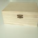 Nagy natúr fa ládika / doboz 2 forma, 2 színben, Fa, Díszíthető tárgyak, Decoupage, szalvétatechnika, Famegmunkálás, Festett tárgyak, festészet, Szép, dekupázs technikához is kiváló natúr avagy sötét erezetű fa doboz / (kincses) ládika, kétféle ..., Alkotók boltja