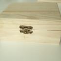 Közepes natúr fa ládika / doboz 2 forma, 2 színben, Fa, Díszíthető tárgyak, Decoupage, szalvétatechnika, Famegmunkálás, Festett tárgyak, festészet, Szép, dekupázs technikához is kiváló natúr avagy sötét erezetű fa doboz / (kincses) ládika, kétféle..., Alkotók boltja