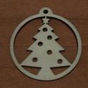 Fa natúr karácsonyi gömb - 2 db - 150 Ft/db, Dekorációs kellékek, Fa, Famegmunkálás, Fából készült natúr karácsonyfadísz. Az ár 2 db-ra együtt értendő.  Mérete: 5 cm  Kérésre egyedi mé..., Alkotók boltja