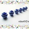 Kék-fehér csíkos akril gyöngyök (10mm) 6db, Gyöngy, ékszerkellék, Műanyag gyöngy, Matróz-csíkos gyöngyszemek.  Tengerre fel! ;)   méretük: 10 mm  A megadott ár 6 db gyöngyre vonatkoz..., Alkotók boltja