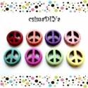 PEACE gyöngyök :) (8db), Gyöngy, ékszerkellék, Figurális gyöngyök, PEACE Sign / BÉKE jel alakúra formázott vegyes színekben pompázó gyöngyök várják, hogy szuper ékszer..., Alkotók boltja