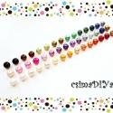 8mm-s TEKLA-gyöngy Selection (45db), Gyöngy, ékszerkellék, Üveggyöngy, 45 db különböző színű gyöngy, fényesek, mattok vegyesen, a kép szerint :)   Mindegyik színből 1-1 db..., Alkotók boltja