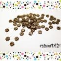 Apró köztes - BRONZ (50db), Gyöngy, ékszerkellék, Egyéb alkatrész, 50db antik bronz színű ólom-, cadmium- és NIKKELMENTES köztes.    Méretek:  átmérő: 4 mm  vastagság:..., Alkotók boltja