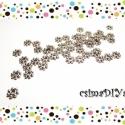 Apró köztes - antik EZÜST (50db), Gyöngy, ékszerkellék, Egyéb alkatrész, 50db antik ezüst színű ólom-, cadmium- és NIKKELMENTES köztes.    Méretek:  átmérő: 4 mm  vastagság:..., Alkotók boltja