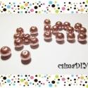 """8mm-s üveggyöngyök (20db) - RosyBrown, Gyöngy, ékszerkellék, Üveggyöngy, A csomag 20 db gyöngyöt tartalmaz.  RosyBrown = """"rózsásbarna"""" - kifinomult, elegáns szín <3 Szerinte..., Alkotók boltja"""