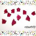 Üveg virág gyöngyök (10db) - PIROS, Gyöngy, ékszerkellék, Üveggyöngy, 10db piros üveg-gyöngy virág alakúra formázva, romantikus, vidám ékszerekhez. :)   Méretük: 9x6mm  L..., Alkotók boltja