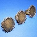 Gyűrű alap(4.minta/3db), Gyöngy, ékszerkellék, Egyéb alkatrész, Ragasztható tárcsás gyűrű alap antik bronz színben. Mérete:a karika átmérő 17mm,szélessége 5mm.A tár..., Alkotók boltja