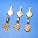 Medálrögzítő (353. minta/6 db), Gyöngy, ékszerkellék, Egyéb alkatrész, Ékszerkészítés, Szerelékek, Medálrögzítő (353. minta) - ragasztható - antik bronz színben  Mérete: 15x8 mm A ragasztható rész: ..., Alkotók boltja