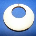 Fa füli alap(körben kör /4db), Gyöngy, ékszerkellék, Egyéb alkatrész, Fa füli alap(körben kör/4db) Mérete 40mm.(a belső kivágás mérete 20mm). Az ár 4db füli ala..., Alkotók boltja