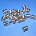 Bőrvég(433.minta/20db), Gyöngy, ékszerkellék, Egyéb alkatrész, Bőrvég nikkel színben. Mérete 7x6mm(belső átmérő 4mm) Az ár 20 db termékre vonatkozik., Alkotók boltja