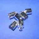 Bőrvég (434. minta/6 db) - 9,5x6 mm, Gyöngy, ékszerkellék, Egyéb alkatrész, Bőrvég (434. minta) - ezüst színben  Mérete: 9,5x6 mm (belső átmérő: 5 mm)  Az ár 6 darab termékre v..., Alkotók boltja