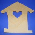 Fa madárházikó(szív/1db), Csináld magad leírások, Gyöngy, ékszerkellék, Egyéb alkatrész, Decoupage, szalvétatechnika, Famegmunkálás, Ékszerkészítés, Szerelékek, Fa madárházikó(szív/1db) A fa alapból egyéni függődíszeket,fali dekorációkat készíthetünk. Mérete 1..., Alkotók boltja