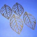 Fülbevaló/medál alap (286. minta/4 db) - levél, Gyöngy, ékszerkellék, Egyéb alkatrész, Ékszerkészítés, Szerelékek, Fülbevaló/medál alap (286. minta) - levél - antik bronz színben  Mérete: 54x31 mm  Az ár 4 darab te..., Alkotók boltja