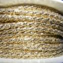 Sodrott zsinór - 4 mm (ZS102/2 m) - arany, Fonal, cérna, Ékszerkészítés, Kötés, horgolás, Sodrott zsinór (ZS102) - arany  Színes nylon sodrott zsinór Ajánlott karkötők, nyakláncok készítésé..., Alkotók boltja