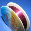 Ékszerdrót 0,3mm(pink/1db), Gyöngy, ékszerkellék, Egyéb alkatrész, Ékszerkészítés, Fűzőszál, Ékszerdrót 0,3mm(pink/1db) Kiváló minőségű,pink színű 0,3mm vastagságú fűzésre alkalmas ékszerdrót...., Alkotók boltja