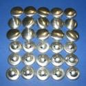 Fém gomb alap(7 méret/15db), Gomb, Fém gomb, Mindenmás, Fém gomb alap(7 méret/15db) A csomag tartalma 15 db behúzható fém(alumínium) gomb alap.Mérete 19/17..., Alkotók boltja