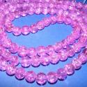 Robbantott gyöngy-4 ( s.rózsa ), Gyöngy, ékszerkellék, Üveggyöngy, Ékszerkészítés, Gyöngy, Robbantott gyöngy 8mm(s.rózsa) A csomag tartalma kb.105db üveggyöngy. 80gr., Alkotók boltja