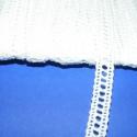 Pamut csipke-1  (9mm/3m fehér), Textil, Varrás, Csipke, Pamut csipke-1  (9mm/3m fehér) Kiváló minőségű pamut alapanyagú csipke. Az ár 3 méter anyagra vonat..., Alkotók boltja